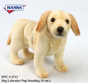 Hansa Yellow Lab Puppy Standing Plush 14