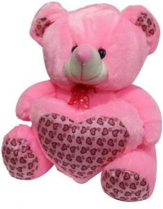 A R ENTERPRISES Soft Teddy Bear with Heart  - 40 cm