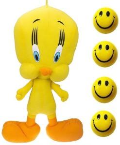 VRV Yellow Tweety Duck and Smiley Balls  - 25 cm