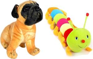 Alexus Pug Dog And Caterpillar  - 32 cm