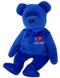 Ty Beanie Babies / Ba Chicago Bear (I Love Chicago) Royal Blue