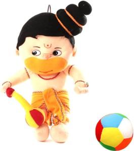 Saugat Traders Hanuman Ji with Soft Ball  - 20 Inch