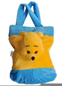 FunnyLand Teddy Bag Blue-n-Yellow 32cm  - 32 cm