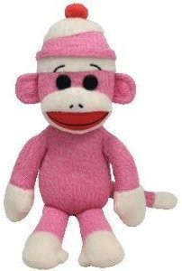 TY Beanie Babies Socks The Monkey (Pink)