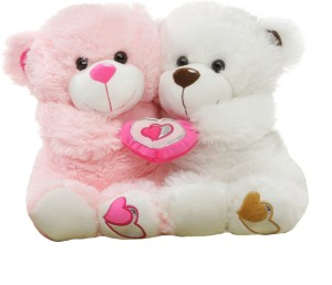 Tabby Cute Couple Teddy  - 35 cm