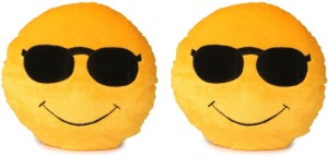 Deals India Deals India Soft COOL Dude Smiley Cushion - 35 cm(smiley2&2) Set of 2  - 35 cm