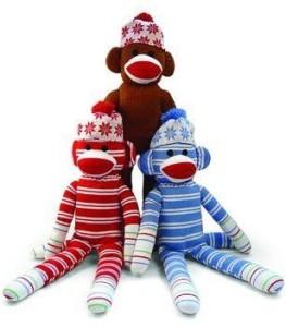 Plushland Holiday Sock Monkey Beanies8