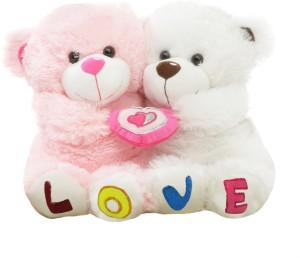 Tabby Cute Love Couple Teddy  - 35 cm