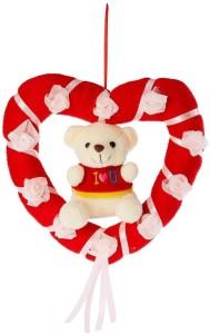 Tickles Cute Teddy in Heart Ring  - 20 cm
