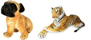 MGPLifestyle Combo of Tiger & Dog Soft Toy (32cm)  - 10 cm