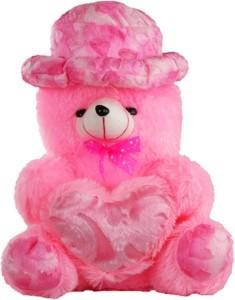 Kashish trading company Ktc Pink Soft Fur Cap Teddy Bear 30 cm  - 12 cm