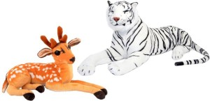 Alexus White Tiger And Deer  - 32 cm