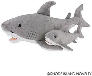 Adventure Planet Birth Of Life Great White Shark With Ba Plush 23