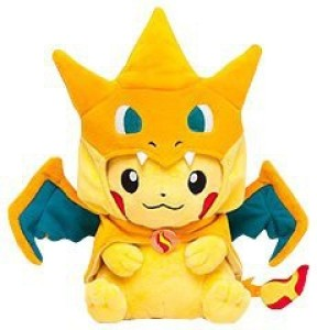 Pokemon Center Original Pikachu Plush Doll Mega Charizard Y Ver