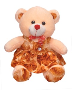 Ktkashish Toys Kashish Valetine Special Girls Cream & Brown Teddy Bear 20 Inch  - 20 inch