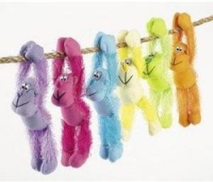 Toys+ Plush Neon Long Armed Gorillas (1 Dozen) Bulk