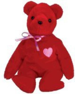 Ty Beanie Babies Kisse Valentine'S Bear ( Store Exclusive)
