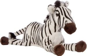 Hamleys Lying Animal - Zebra  - 8 inch