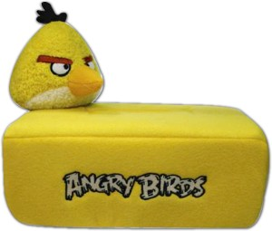 Angry Birds Yellow Bird Tissue Holder Cover  - 8.66 inch