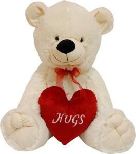 Surbhi Teddy Cream With Heart  - 28 cm