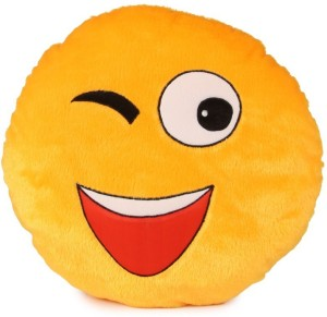 Deals India Soft Wink Smiley Cushion  - 35 cm