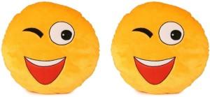 Deals India Deals India Soft WINK Smiley Cushion - 35 cm(smiley4&4)Set of 2  - 35 cm