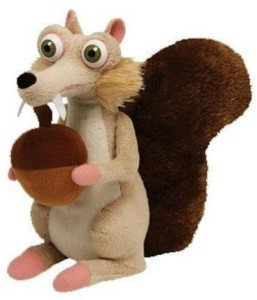TY Beanie Babies Scrat The Squirrel Ice Age