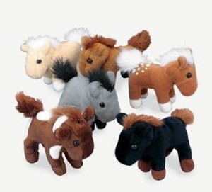Fun Express Soft Plush Horses (1 Dz)