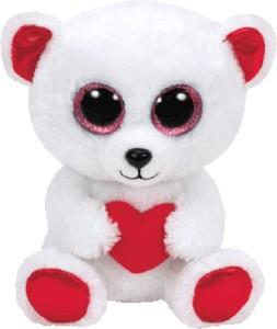 Jungly World CUDDLY BEAR - bear with heart reg  - 6 inch