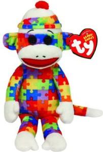 TY Beanie Babies Sock Monkey Puzzle Plush