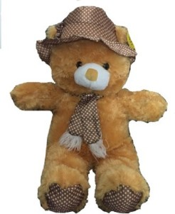 Cuddles Collections Cap teddy Brown  - 35 cm
