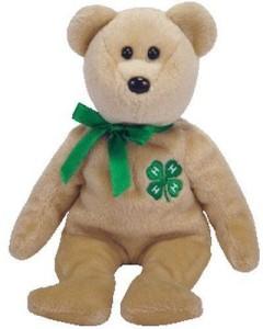 Ty Beanie Babies Clover Bear (4H Club Exclusive)