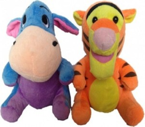 Cuddles Tiger and Donkey Combo  - 20 cm