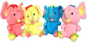 Chinmayi Small Four Combo Elephant Soft Toy, Gift Smile To Your Kids  - 20 cm