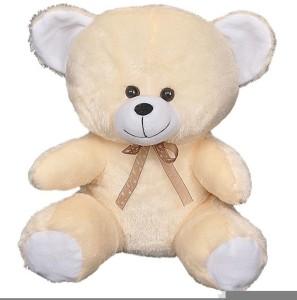 FunnyLand Teddy Bear Peach 20cm with Brown Bow  - 20 cm