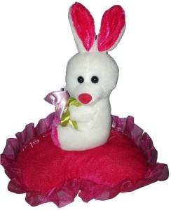 GRJ India Rabbit On Love Heart  - 5 Inch
