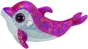 Ty Sparkles Pink Dolphin Beanie Boo Large - Stuffed Animal (36814)  - 25 inch