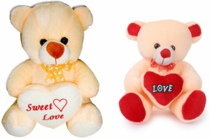 Deals India Deals India George Teddy and chinky Cream Bear 35cm  - 30 cm