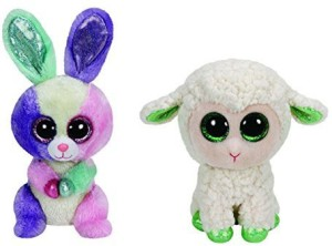 TY Beanie Babies Easter Bloom And Lala Set