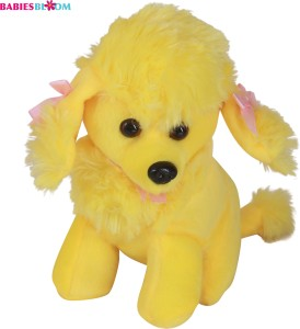 Babies Bloom Yellow Kawaii Poodle Dog Puppy Stuffed Plush Dog Toy  - 20 cm