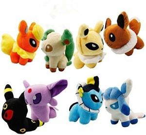 FireBeast Pack Of 8 Pcs Pokemon Pokedoll Plush Soft Doll Set 5
