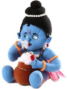 Turban Toys Makhan Chor Indian God Soft Krishna- Medium  - 12 inch