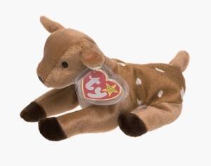TY Beanie Babies Whisper The Deer