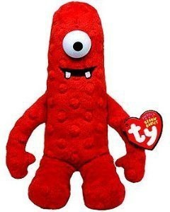 Yo Gabba Gabba Ty Plush Beanie Ba Doll Red Muno 10 In Cute Gift Red ... f9c2e8693