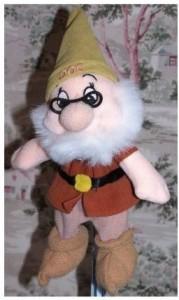 Disney Snow White & The Seven Dwarfs Bean Bag ~ Doc W/ Glasses