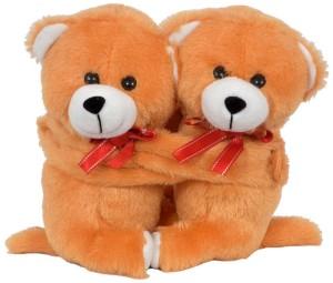 FunnyLand Teddy Bear Twins Mustard 18cm  - 18 cm