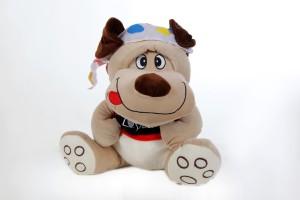 Giftwish Soft Cute Dog Grey Stuffed Toy  - 14 inch
