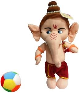 Saugat Traders Ganesha with Ball  - 18 inch
