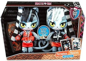 Monster High Exclusive Plushwerecat Sisters Purrsephone & Meowlody