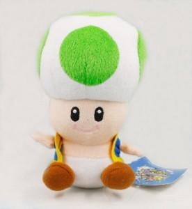 AOFENG INC. Super Mario Bros Green Mushroom Toad Plush Doll 7
